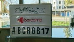 barcamp 2017 willkommen schild