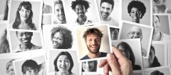 Polaroid Bilder Lächeln