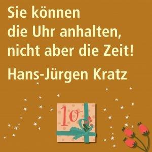 Metropolitan Adventskalender Tür zehn: Spruch von Autor Hans-Jürgen Kratz