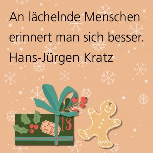 Metropolitan Adventskalender Tür dreizehn: Spruch von Autor Hans-Jürgen Kratz