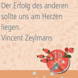 Metropolitan Adventskalender Tür fünfzehn: Spruch von Autor Vincent G. A. Zeylmans van Emmichoven