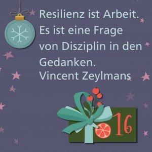 Metropolitan Adventskalender Tür sechzehn: Spruch von Autor Vincent G. A. Zeylmans van Emmichoven