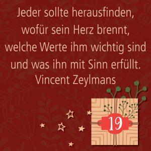 Metropolitan Adventskalender Tür neunzehn: Spruch von Autor Vincent G. A. Zeylmans van Emmichoven