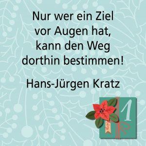 Metroplitan Adventskalender erstes Türchen: Spruch von Autor Hans-Jürgen Kratz