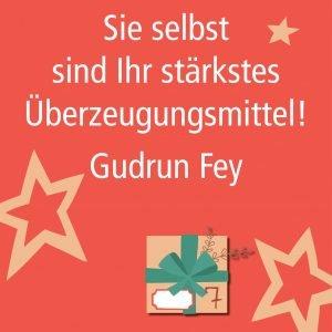 Metropolitan Adventskalender Tür sieben: Spruch von Autorin Gudrun Fey