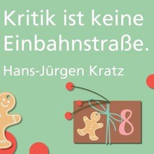 Metropolitan Adventskalender Tür acht: Spruch von Autor Hans-Jürgen Kratz