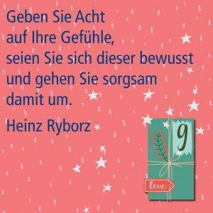Metropolitan Adventskalender Tür neun: Spruch von Autor Heinz Ryborz