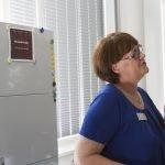 Tag der offenen Tür: Barbara Bayer erklärt das Aufgabengebiet eines Lektors und gibt einen Einblick in den Verlag