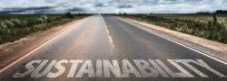 Straße auf der Substainability steht