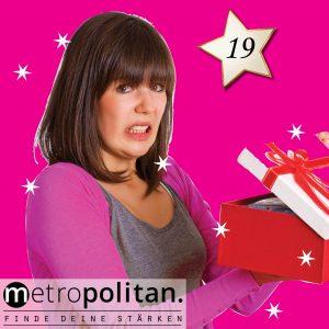 Adventskalender Nummer 19 Geschenkbox