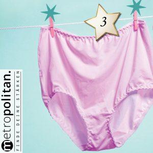 Adventskalender Nummer 3 Unterwäsche von Oma Unterhose