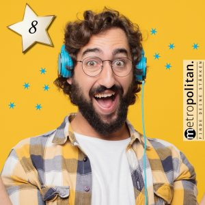 Adventskalender Nummer 8 DJ Bobo CD Mann mit Kopfhörer