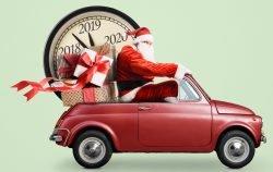 Nikolaus im Auto Jahresrückblick