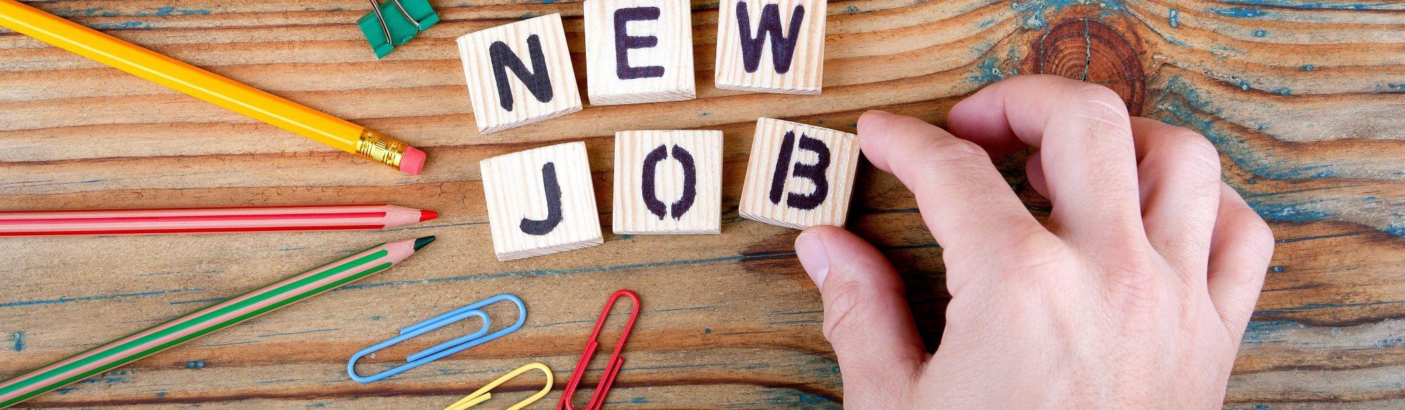 New Job Buchstaben