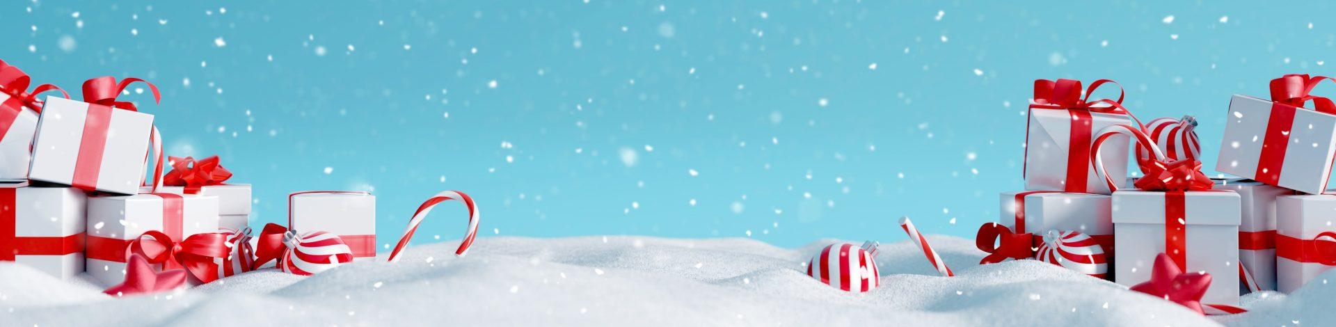 Winterlandschaft mit Geschenken