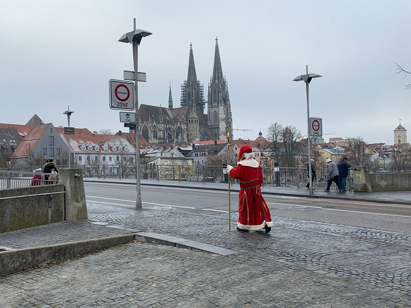 Nikolausaktion 2019 Nikolaus für metropolitan unterwegs
