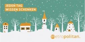 Weihnachtskarte metropolitan Jeden Tag Wissen Schenken