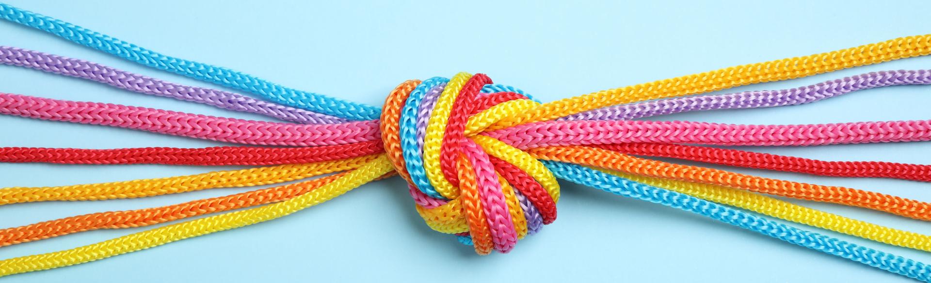 Knoten aus verschiedenen Farben