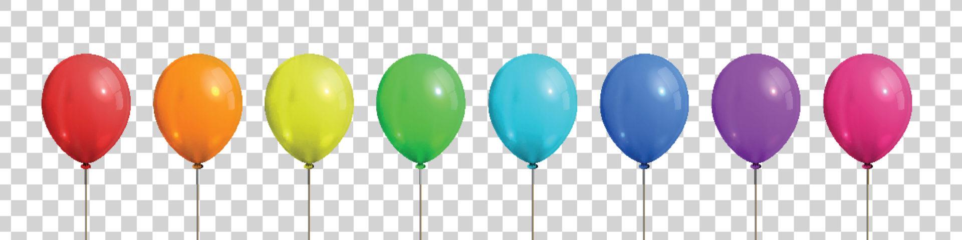bunte luftballons Wir feiern Geburtstag